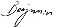 signature, Benjamin Langley